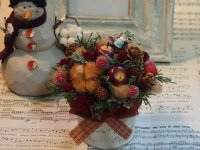 クリスマスミニアレンジ・レッド